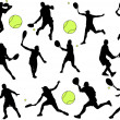 Tennis players — Stockvectorbeeld
