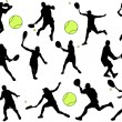 Tennis players - Stock Vector
