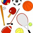 Stock Vector: Sport equipment