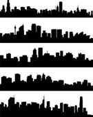 Panorama cities — Stock Vector