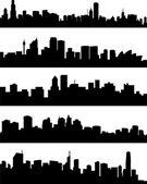 Villes de panorama — Vecteur