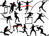 Athletics — Stock Vector