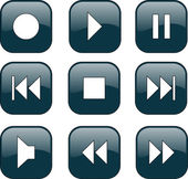 Audio-video control buttons — Stock Vector