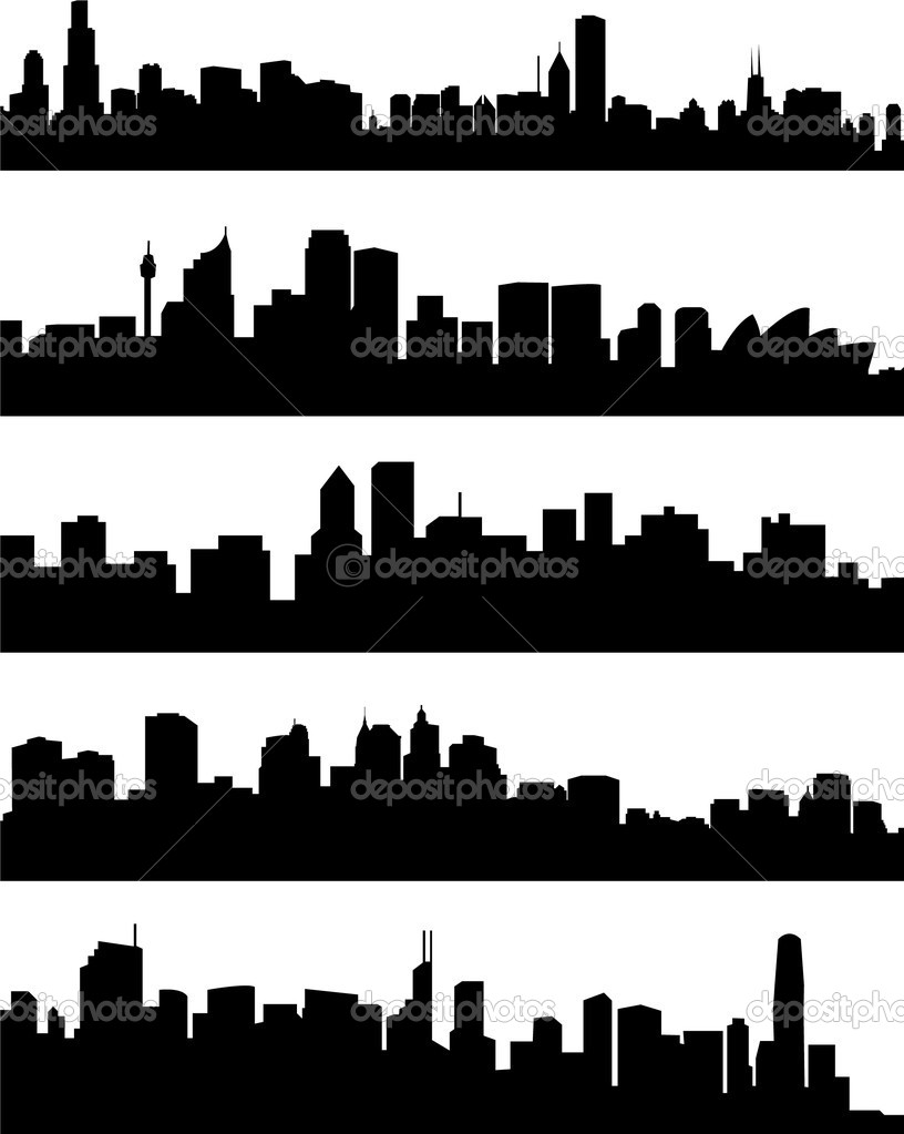 Panorama cities collection - vector — Stock Vector #1982488