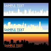 City skyline banners — Stock Vector