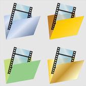 Video složka ikony — Stock vektor