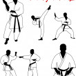 Karate - Imagen vectorial