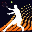 Stock Vector: Tennis player