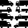 Royalty-Free Stock Vectorielle: Trucks collection