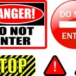 DO NOT ENTER — Stock Vector #2012517