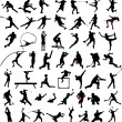 Sport silhouettes collection — Vector de stock #2012638