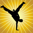 Stock Vector: Break dancer