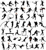 Collection de silhouettes de sport — Vecteur