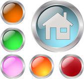 Glasartade knappar — Stockvektor