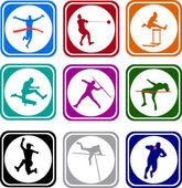 Athletics icons — Stock Vector