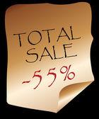 Total sale — Stock Vector