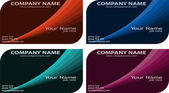 Set of modern business cards — Stock Vector