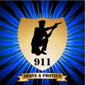 Police badge — Stockvektor
