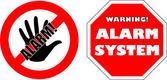 Protégés par des autocollants de système d'alarme — Vecteur