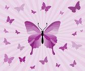 Butterflies background — Stock Vector