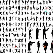 Royalty-Free Stock Imagen vectorial: Silhouettes
