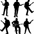 Guitarists silhouettes — Stock Vector