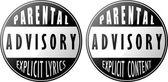 Explicit content and explicit lyrics — Stock Vector