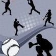Stock Vector: Baseball