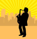 Saxophonist — Stock Vector