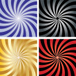 Royalty-Free Stock Obraz wektorowy: Twirl sunburst background