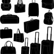 Travel bags and suitcases — Stock Vector