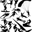 Extreme sports silhouettes — Stock Vector #2203181