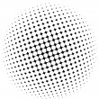 Halftone dots - vector - Stock Vector