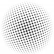 Stock Vector: Halftone dots - vector