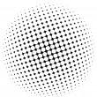 Halftone dots - vector — Stock Vector