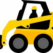 Stock Vector: Skid loader