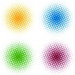 Colorful halftone dots - Stock Vector