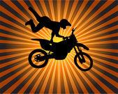 Stunt biker — Stock Vector