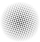 Halftone dots - vector — Stock Vector