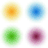Colorful halftone dots — Stock Vector