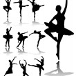 Ballet dancers — Stock Vector #2216523