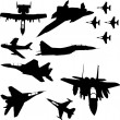 Stock Vector: Military airplanes