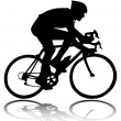 Bicyclist silhouette — Stock Vector