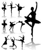 Ballet dancers — Vector de stock