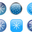 Snowflake buttons - Stock Vector