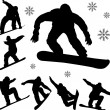 Stock Vector: Snowboarders