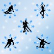Winter sports concept — Image vectorielle