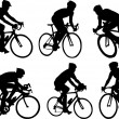 Bicyclists silhouettes — Stock Vector #2287585