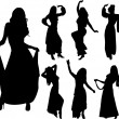 Belly dancers - Stock Vector