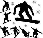 сноубордисты — Cтоковый вектор